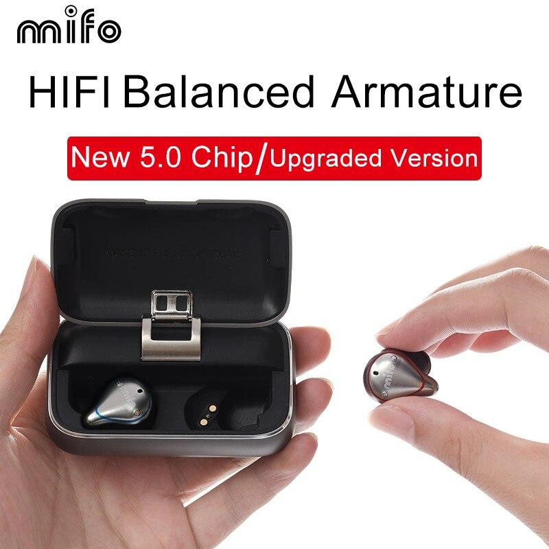 Mifo O5 Bluetooth 5.0 True Wireless Earbuds Balanced Bluetooth Earphone Sport Stereo Earphones with Charging Box 2020 Upgraded